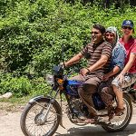 family-on-cycle